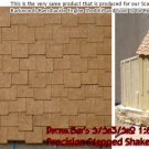 PRECISION STEPPED SHAKE SHINGLES Doctor Ben's Peel-n-Stik O/On3/On2/On30 1:48
