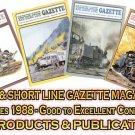VOL 14, ISSUE1-6 1988 NARROW GAUGE & SHORT LINE GAZETTE MAGAZINE COMPLETE SET