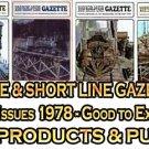 VOL 4, ISSUE 1-6 1978 NARROW GAUGE & SHORT LINE GAZETTE MAGAZINE COMPLETE SET