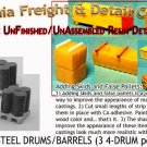 PALLET STEEL DRUMS/BARRELS (3pc) N/Nn3/1:160-Scale CALIFORNIA FREIGHT