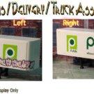 "PUBLIX DANISH BAKERY ""TAGGED"" GRAFFITI CUSTOM BOX DELIVERY TRAILER-AHL1:64/Sn3"