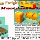 ROOF ACCESS HATCH (2pcs) N/N3-1:160 Scale CAL  FREIGHT & DETAILS
