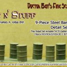 9-Piece Steel Drum/Barrel Detail Set-1;87 YORKE/Scale Model Masterpieces HO/HOn3