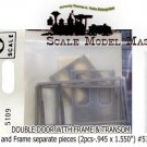 SALOON DOUBLE DOOR W/FRAME & TRANSOM (2sets)-Grandt Line HOn3/HOn30