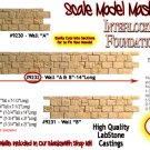 "INTERLOCKING STONE FOUNDATION WALL ""A-B"" Scale Model Masterpieces/Yorke S/On30"