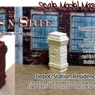 BRICK CHIMNEY FOR DEPOT/STATION/FACTORY-Scale Model Masterpieces/YORKE On3/1;48