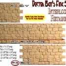 "INTERLOCKING STONE RETAINING WALL ""B"" Scale Model Masterpieces/Yorke S/On3/On30"