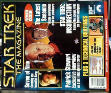 Star Trek The Magazine-PREMIERE ISSUE #1 May-99 w/ Picard/ 7of9 / Data /BORG NEW