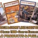 VOL 12, ISSUE1-6 1986 NARROW GAUGE & SHORT LINE GAZETTE MAGAZINE COMPLETE SET