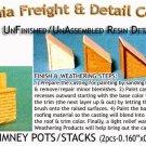 BRICK CHIMNEY POTS/STACKS (2pcs) N/Nn3/1:160-Scale CALIFORNIA FREIGHT