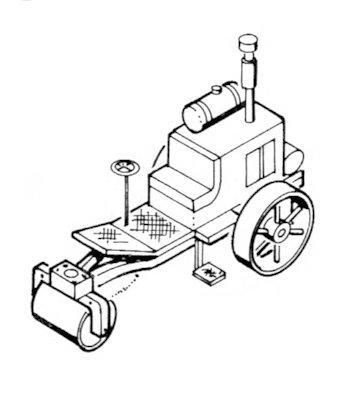 Combustion Engine (Light) Road Roller Kit FINESTKIND MODELS 1:64 S/Sn3/Sn2