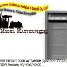 RGS STYLE DEPOT FREIGHT DOOR W/TRANSOM (2pcs)-Grandtline HOn3/HOn30