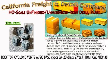 2-PAK DUMPSTERS OPEN & CLOSED HO/HOn3/HOn30-Scale CAL FREIGHT