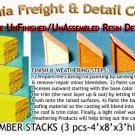 MILLED LUMBER STACKS (3 pcs) Scale Model Masterpieces HO/HOn3/HOn30