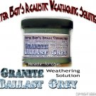 GRANITE BALLAST GREY Weathering Solution 4oz-Doctor Ben's READY-TO USE HON3*NEW*