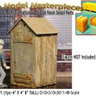 PRIVY/OUTHOUSE KIT #1 YORKE/Scale Model Masterpieces O/On3/On30 1:48/1:43 *NEWD*