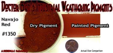 NAVAJO RED Industrial Weathering Pigment/Paint 2oz-Doctor Ben's PLASTIC/METAL