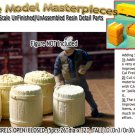 RUSTIC WOODEN BARRELS OPEN/CLOSED-(5pcs) Scale Model Masterpieces O/On3/On30/1:4