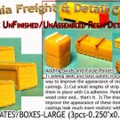 PLYWOOD CRATES/BOXES-LARGE (3pcs) N/Nn3/1:160-Scale CAL FREIGHT & DETAILS