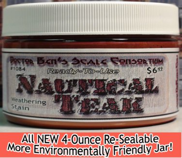 NAUTICAL TEAK WEATHERING STAIN-4oz Doctor Ben's FLOQUIL REPLACEMENT WOOD/PLASTIC