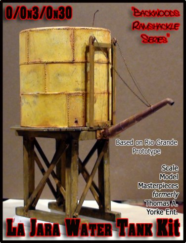 Rio Grande La Jara Water Tank Kit Scale Model Masterpieces/Yorke On3/On2/On30
