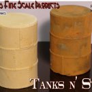TANKS-VERTICAL STEEL ROUND FUEL/OIL/WATER-Scale Model Masterpieces MIB S/HO/O/N