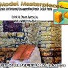 BASEMENT ACCESS-EXTERIOR CONCRETE & STEEL-(2pcs) HO/HOn3/HOn30-SMM *NEW*