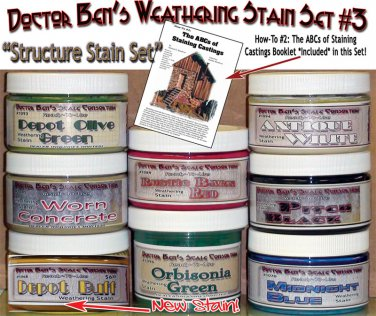 Weathering Stain Set #3 & How-To Booklet STRUCTURE SET READY-TO-USE CONTEST PROVEN!