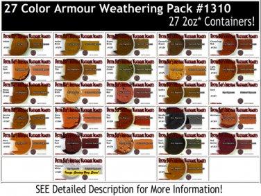 27-COLOR ARMOR/MILITARY/AUTO Weathering Pigment Set Doctor Ben's PLASTIC.METAL