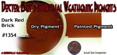 DARK RED BRICK Doctor Ben's Industrial Weathering Pigment 2oz Plastic/Wood/Metal