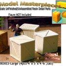 WOODEN BOXES/CRATES-Large (4pcs) SCALE MODEL MASTERPIECES HOn3HO/n30-1:87