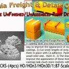 FIREWOOD STACKS (4pcs) HO/HOn3/HOn30-NEW Yorke/Scale Model Masterpieces
