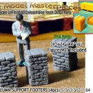 BRICK PILLAR/COLUMN SUPPORT FOOTERS (4pcs) Scale Model Masterpieces/Sn3/1:64