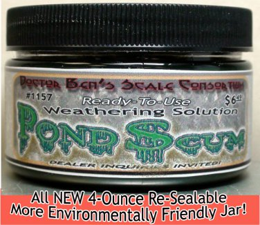 MURKY POND SCUM Weathering Solution 4oz-Doctor Ben's READY-TO USE.CONTEST PROVEN
