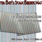 STANDING SEAM SIDING/ROOFING METAL (5pcs) Doctor Ben's Scale Consortium HO