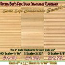 "Random/Staggered Wood Clapboard Sheet (1pc-6""x12"") Doctor Ben's HOn30/HOn3/1;87-NEW*"