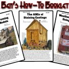 Set of Doctor Ben's How-To #1 #2 & #3 Weathering Booklet Set for Wood/HYDROCAL/Plastic/Metal