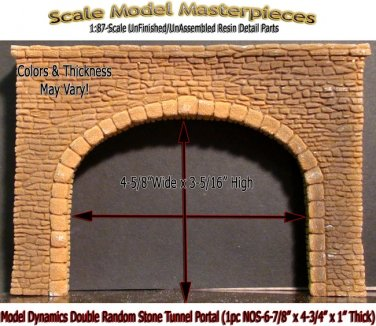 SINGLE CUT STONE TUNNEL PORTAL (1pc-NOS)  Model Dynamics/CHOOCH/AIM HO/HOn3