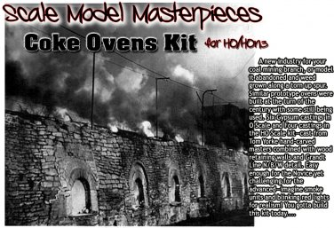 COKE OVENS KIT Scale Model Masterpieces/YORKE/ HO/HOn2/HOn30 *EXPANDABLE!