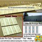 Tilt-Up Walls (L)-Eight Small Elev Windows-(2pcs) Scale Model Masterpieces-N