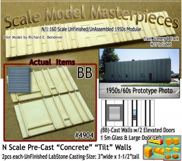 Tilt-Up Walls (BB)-TWO ELEVATED DOORS-1ea SM/LG (2pcs) - 20'x40' SMM-N/Nn3