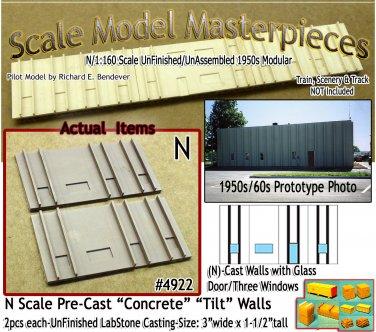 Tilt-Up Walls (N)-One Glass Door/Three Windows-(2pcs) - 20'x40' SMM-N/Nn3