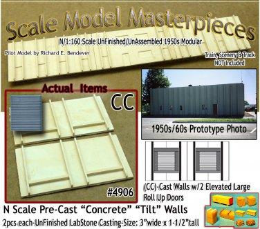 Tilt-Up Walls (CC)-Two Large Elevated Doors-(2pcs) - 20'x40'  SMM-N/Nn3