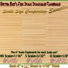 "RANDOM WOOD Staggered Clapboard Sheet 6""x12""Long-1:48/1:43/O/On3/On2/On30"