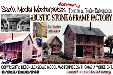 RUSTIC STONE & FRAME FACTORY NOS Kit Thomas A Yorke 1978 O/On3/On30 MIB