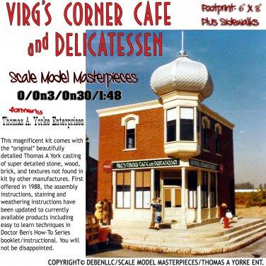 VIRG'S CORNER CAFE & DELICATESSEN--Scale Model Masterpieces 1:48/1:43 O/On3/On30
