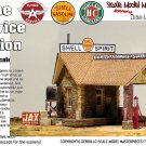 STONE SERVICE STATION (Shell Oil) KIT Scale Model Masterpieces/YORKE 1:48/O/On30