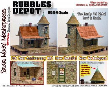 SR&RL RUBBLES DEPOT KIT YORKE 1:48/1:43 SCALE MODEL MASTERPIECES On2/On3/On30