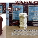 BRICK CHIMNEY DEPOT/STATION/FACTORY-YORKE/Scale Model Masterpieces Sn3/Sn2/1:64