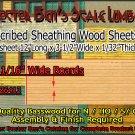 "SCRIBED SIDING SHEET-3-1/2""W x 12""L (1pc) Doctor Ben's HO/N/S Scale"